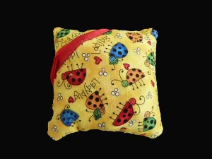 Hobby Gift Ladybird Pin Cushion with Scissors