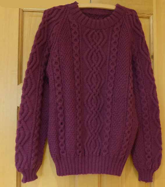 Jaeger Hand Knitted Aran Sweater Jannette S Rare Yarns