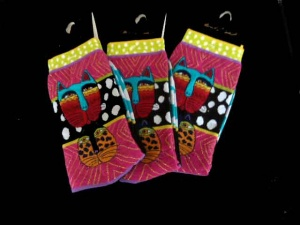 Laurel Burch Wild Cats Socks