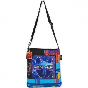 Laurel Burch Whiskered Cats Cross Body Tote