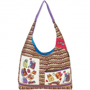 Laurel Burch Karly's Cats Scoop Shoulder Tote