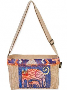 Laurel Burch Folklorica Gatos Cross Body Tote