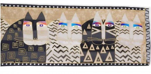 Laurel Burch WIld Cats Silk Scarf