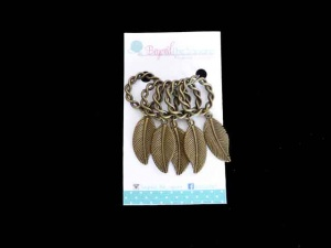 Bronze Leaf Stitch Markers