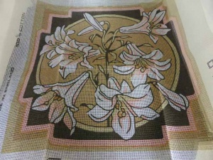 Valerie Green Lilies Cross Stitch Cushion Cover Kit[