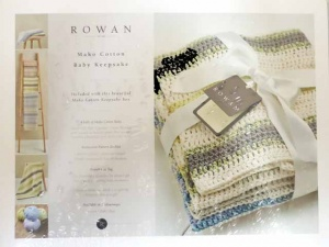 Rowan Baby Mako Cotton Keepsake Box Kit - Green