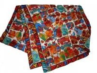 Laurel Burch Feline Faces Silk Scarf