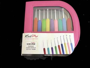 Knit Pro Waves Crochet Hook Set - Pink