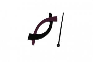 Pollika Arches Shawl Pin - Purple