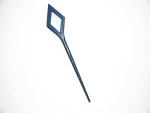 Pollika Diamond Single Stick Shawl Pin - Blue