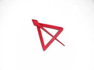 Pollika Triangle Shawl Pin - Red