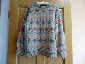 Hand Knitted Rachel Grimmer Fair Isle Sweater