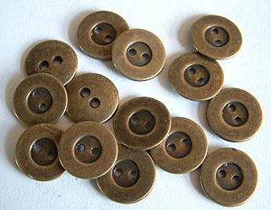 Rowan Small Antique Brass Buttons #408
