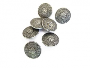 Antique Silver Swirl Engraved Buttons