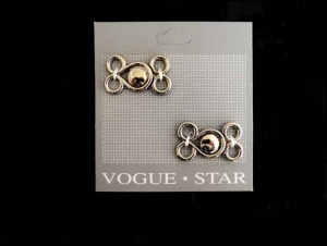 Vogue Star Silver Frog Fasteners
