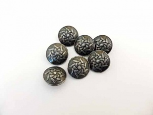 Antique Silver Star Buttons