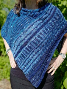 Artyarns Showstopper Shawl in in Beaded Silk and Sequins Light