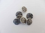 Silver Flower Buttons - Medium Size