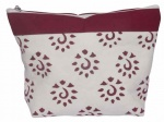 Knit Pro Amber Big Zipper Pouch - Burgundy