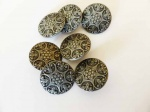 Antique SIlver Large Abstract Buttons