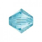 Swarovski Aquamarine 6mm Crystals