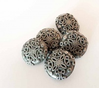 Antique SIlver Raised Swirls Buttons
