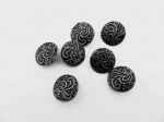 Antique Silver Floral Buttons