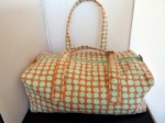 Milward Knitting Bag -Coral/Sea Green Polka Dot