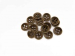 Small ''Brass'' DIshed Buttons