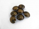 Antique Bronze Large Floral Buttons