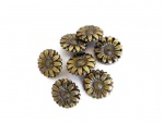 ''Bronze'' Sunflower Buttons
