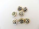 Black and White Enamel Buttons