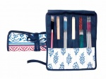 Knit Pro Navy Double Pointed Needle Case 15-20cms