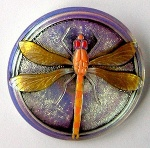 Dragonfly Buttons - Olive - Large Size