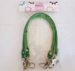 Knit Pro Faux Leather D Ring Bag Handles - Emerald Green