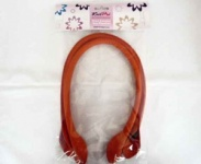 Knit Pro Faux Leather Bag Handles - Orange