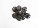 Gunmetal Fretwork Buttons