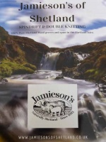 Jamieson's of Shetland Spindrift and Double Knitting Shade Card