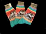 Laurel Burch Spotted Cat Socks - Jade Colourway
