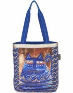 Laurel Burch Azul Shoulder Tote