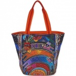 Laurel Burch Once in a Blue Moon Shoulder Tote