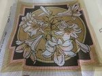 Valerie Green Lilies Cross Stitch Cushion Cover Kit