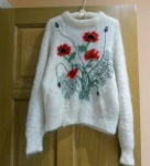 Brigid Foley Mohair Poppies Sweater