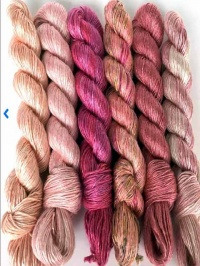 Artyarns Regal Silk Shawl - Pink Colourway
