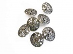Antique Silver Cut Out Flower Buttons