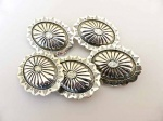 Large ''Silver'' Oval Buttons