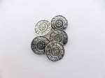 Antique Silver Round Time Buttons