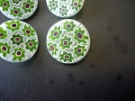Trendsetter Green Flower Buttons