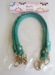 Knit Pro Leather D Ring Bag Handles - Turquoise