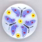 White Butterfly Buttons